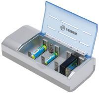 Cargador universal para pilas AA, AAA, C, D, y 9 V, de níquel cadmio y níquel metal
