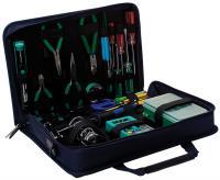 Portafolio profesional con herramientas para uso básico en electrónica